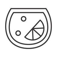 icono de cóctel burbujas de lima bebida licor alcohol refrescante diseño de estilo de línea vector