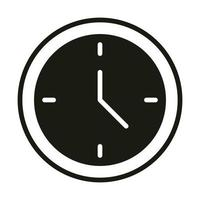 mobile application clock time web button menu digital silhouette style icon vector