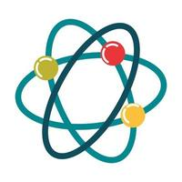 science atom molecule biology flat style icon vector