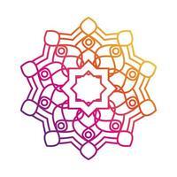 mandala decorative ornament ethnic oriental element gradient style icon vector