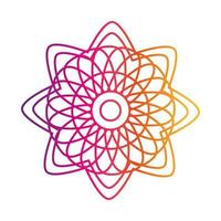 mandala decorative ornament ethnic oriental gradient style icon vector
