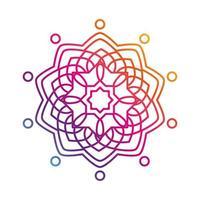 mandala floral flower oriental gradient style icon vector