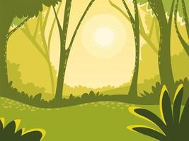 landscape green scene vector