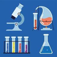 laboratory chemical equipment vector