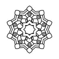mandala decorative ornament ethnic oriental element line style icon vector