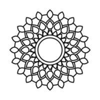 mandala decorative ornament ethnic oriental line style icon vector