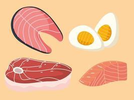 food protein set vector