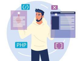 programmer man development vector