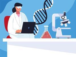 medical doctor genetic vector