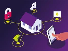 smart home control vector