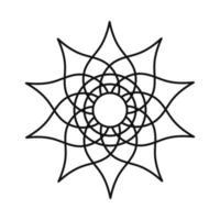 mandala floral flower oriental line style icon vector