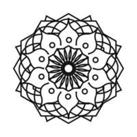 floral mandala vintage decorative bohemian line style icon vector