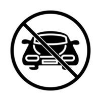 prohibited parking car transport silhouette style icon design vector