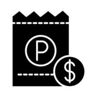 parking ticket money transport silhouette style icon design vector