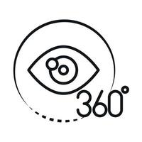 360 degree view virtual tour augmented linear style icon design vector
