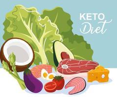 keto diet food vector
