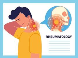 enfermedad reumática del cuello vector