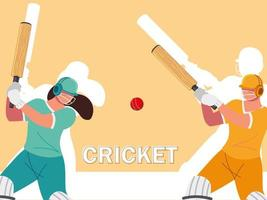 cricket players team vector
