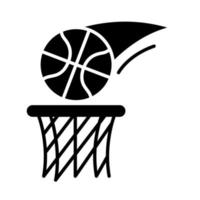 basketball game ball shot recreation sport silhouette style icon vector