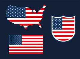 United States flags vector