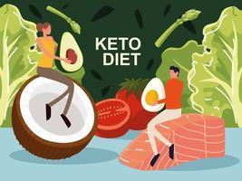 keto diet people vector