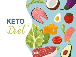 keto diet banner vector