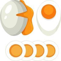 juego de huevo duro y blando vector