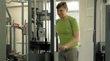 The man in the gym, Fitness, Health, and lifestyle concept video