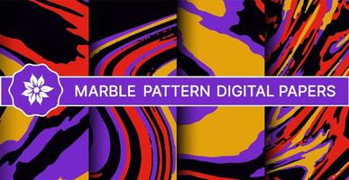 Abstract marble pattern set of backgrounds vector