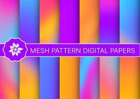 Set a collection of abstract neon vector