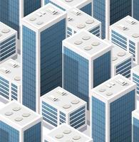 Isometric background seamless city downtown skyscrapers vector