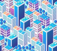 Architecture vector illustration city for seamless repeating