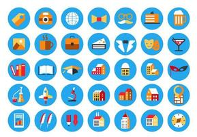 Highlights Stories Covers Icons vector