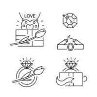 Jewelry icons Vector line illustration