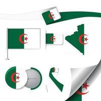 bandera de argelia con elementos vector