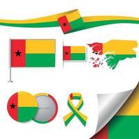 bandera de guinea bissau con elementos vector