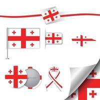 bandera de georgia con elementos vector