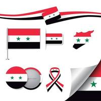 Syria Flag with elements vector