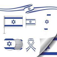 bandera de israel con elementos vector