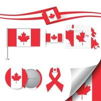 Canada flag with elements vector