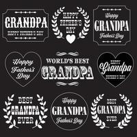 grandpa fathers day white vector graphics