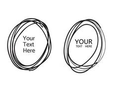 Hand drawn circle line vector