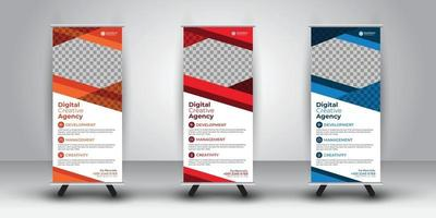 Rollup Abstract Design Multiple Design Color vector