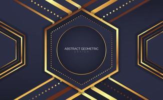 abstract geometric hexagon design vector