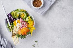 composición creativa de comida deliciosa foto