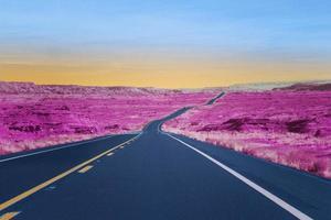 colorido paisaje retro vaporwave foto