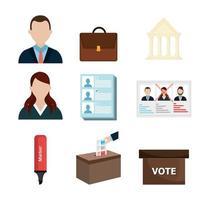 vote democracy of set icons vector