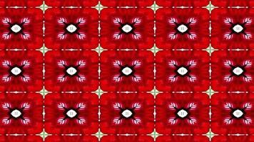roter und grüner Kaleidoskophintergrund video