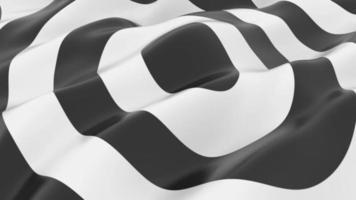 fond de vague de forme de cercle noir et blanc video