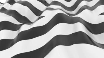 Abstract Black And White Stripped Liquid Wave Background video